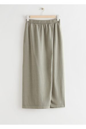 Other Stories Jersey Midi Wrap Skirt