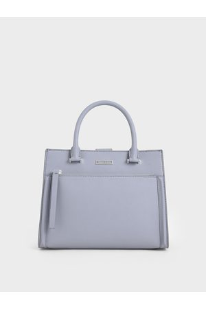 CHARLES & KEITH Women Tote Bags - Double Handle Front Zip Tote