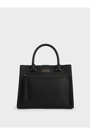CHARLES & KEITH Double Handle Front Zip Tote