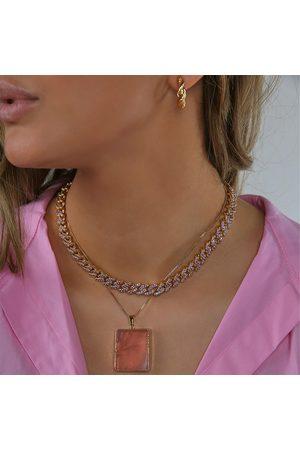 Crystal Haze Women's Rose Quartz Pendant