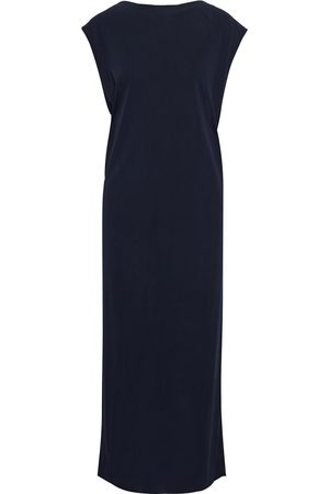 Helmut Lang Woman Twist-back Crepe-jersey Midi Dress Midnight Size L
