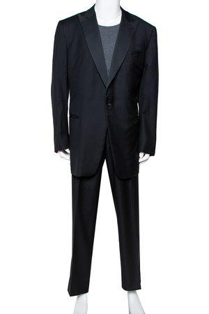 Ermenegildo Zegna Wool Contrast Trim Detail Suit 5XL