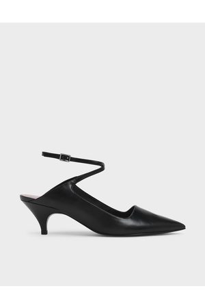 CHARLES & KEITH Criss Cross Ankle Strap Kitten Heel Pumps