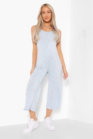 Boohoo Womens Maternity Floral Culotte Jumpsuit - - 4