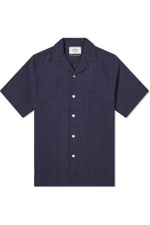 Portuguese Flannel Men Shirts - Flame Seersucker Vacation Shirt