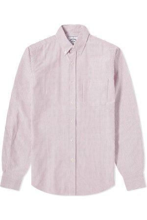 Portuguese Flannel Men Shirts - Belavista Stripe Button Down Oxford Shirt