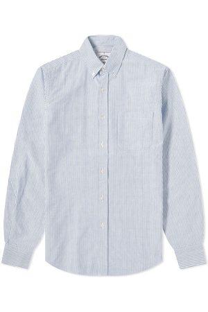 Portuguese Flannel Belavista Stripe Button Down Oxford Shirt