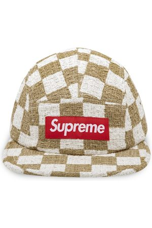 Supreme Checkerboard Boucle camp cap - Neutrals