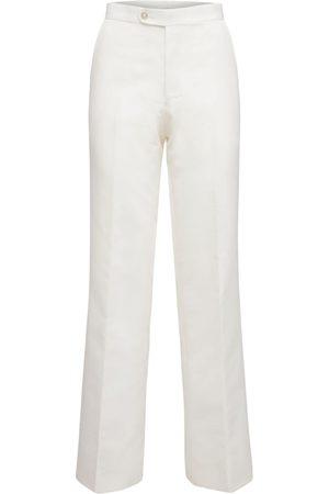 JUNYA WATANABE Women Pants - High Waist Nylon Twill Pants