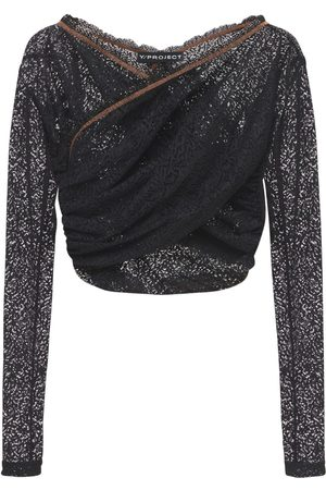 Y / PROJECT Twisted Lace Cropped Top