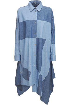 Loewe Oversize Patchwork Cotton Chambray Dress