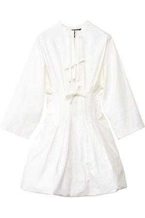 Loewe Linen & Cotton Toile Mini Dress