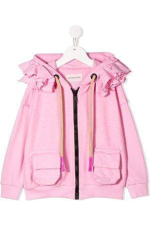 Natasha Zinko Ruffle trim zip hoodie