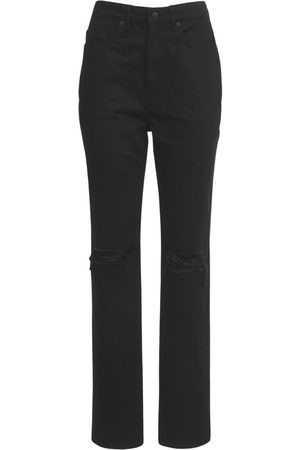 Alexander Wang Women High Waisted - High Waist Distressed Denim Jeans