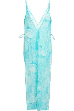 Ganni Printed Light Cotton Slip Dress