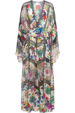 Zuhair Murad Women Printed Dresses - Printed Silk Crepe De Chine Long Dress
