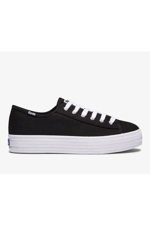 Keds Women Platform Sneakers - Triple Kick Feat. Organic Cotton , Size 6m Women's Shoes