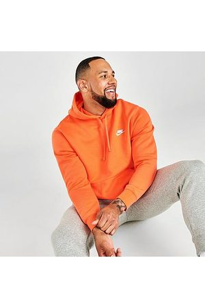 Nike Men Hoodies - Sportswear Club Fleece Embroidered Hoodie in /Turf Size Medium
