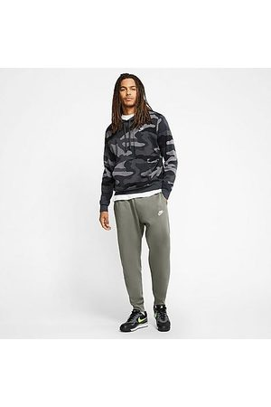 Nike Men Sports Pants - Sportswear Club Fleece Jogger Pants in /Light Army Size Small Cotton/Polyester/Fleece