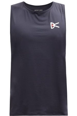 District Vision Air Wear Logo-print Perforated-jersey Tank Top - Mens