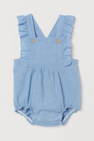 H&M Ruffle-trimmed Overall Shorts