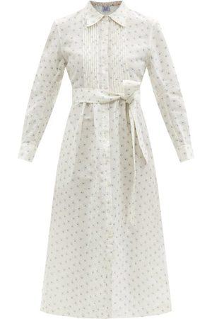 Thierry Colson Wilda Dot-print Cotton-blend Voile Shirt Dress - Womens - Print