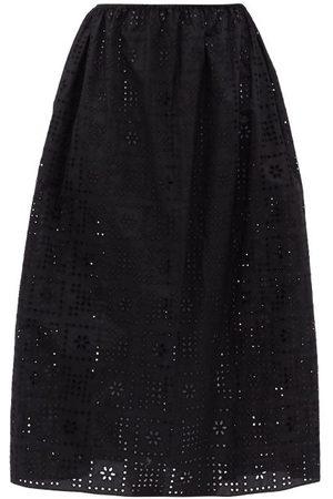 MATTEAU Women Midi Skirts - The Crochet Broderie Organic-cotton Midi Skirt - Womens