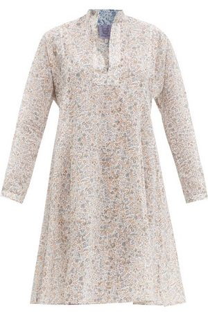 Thierry Colson Women Party Dresses - Parvati Floral-print Cotton-poplin Mini Dress - Womens - Print