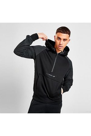 Nike Men Hoodies - Men's Sportswear Air Max Logo Half-Zip Fleece Hoodie in / Size Small 100% Polyester/Fleece