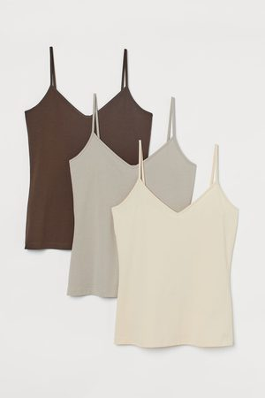 H&M 3-pack V-neck Camisole Tops