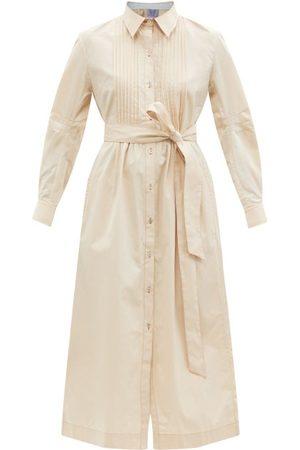 Thierry Colson Wilda Belted Cotton-poplin Shirt Dress - Womens