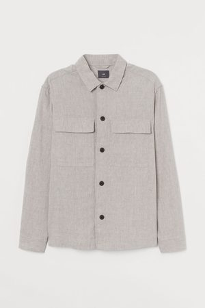 H&M Men Shirts - Linen-blend Shirt