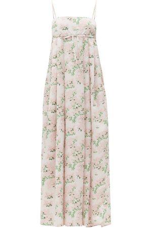 Bernadette Women Printed Dresses - Jules Hortensia-print Taffeta Maxi Dress - Womens - Print