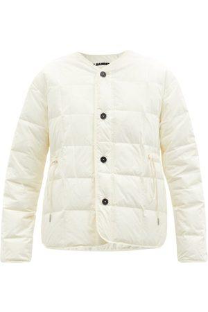 Jil Sander Drawstring-waist Down Jacket - Womens - Ivory