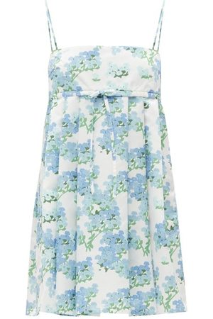Bernadette Women Party Dresses - Jules Hortensia-print Taffeta Mini Dress - Womens - Print