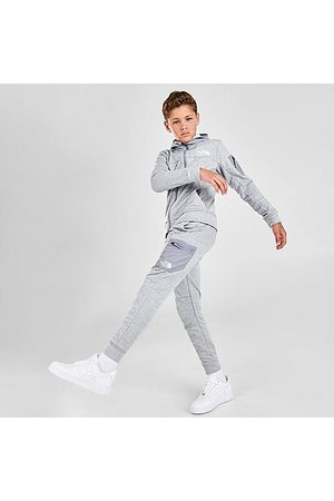 The North Face Boys' Mittellegi Jogger Pants in Grey/Light Grey Heather Size Small Cotton