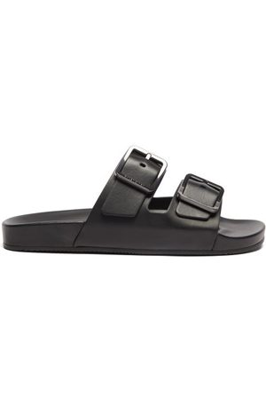 Balenciaga Mallorca Leather Slides - Mens