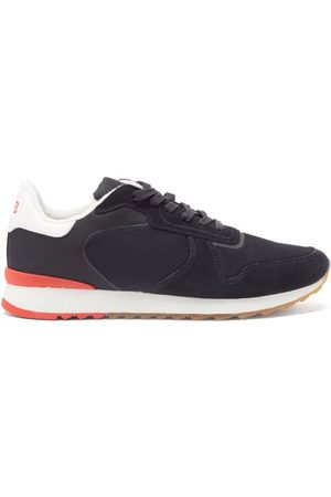 Orlebar Brown Oleta Suede And Mesh Trainers - Mens - Navy Multi