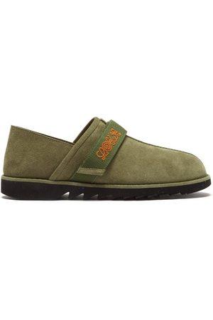Eye/LOEWE/nature Men Flat Shoes - Suede Slip-on Trainers - Mens - Khaki