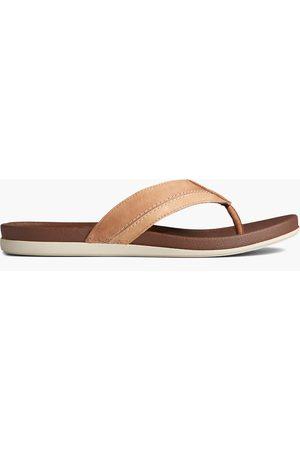 Sperry Top-Sider Men Sandals - Men's Sperry PLUSHWAVE Thong Sandal Tan, Size 7M