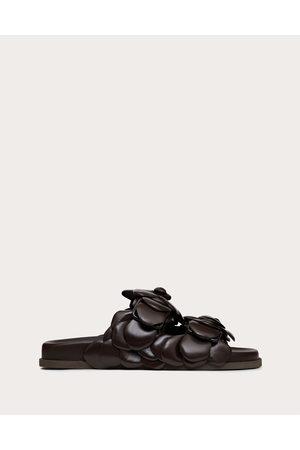 VALENTINO GARAVANI Women Sandals - Atelier Shoes 03 Rose Edition Slide Sandal 35 Mm Women Bitter Chocolate/ Lambskin 100% 35