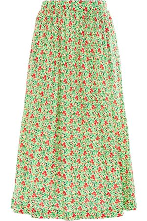 American Vintage Woman Chipiecat Gathered Floral-print Cotton-jersey Midi Skirt Light Size M/L