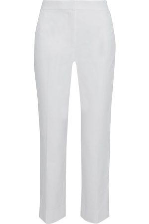 Diane von Furstenberg Woman Fia Stretch-cotton Straight-leg Pants Off- Size 10
