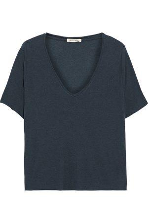 American Vintage Woman Malilen Ribbed Jersey T-shirt Storm Size XS/S