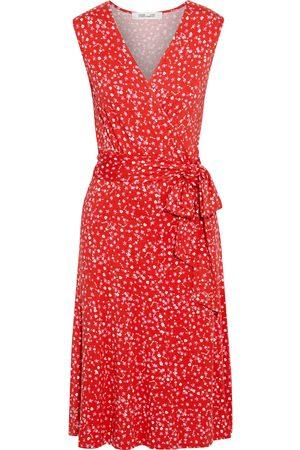 Diane von Furstenberg Woman Jasmine Printed Jersey Wrap Dress Size L