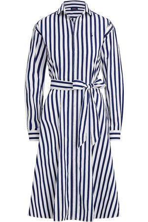Polo Ralph Lauren Women's Striped Shirtdress - Navy - Size 12