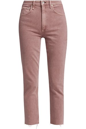 RAG&BONE Women's Nina High-Rise Ankle Cigarette Jeans - Light Plum - Size 32