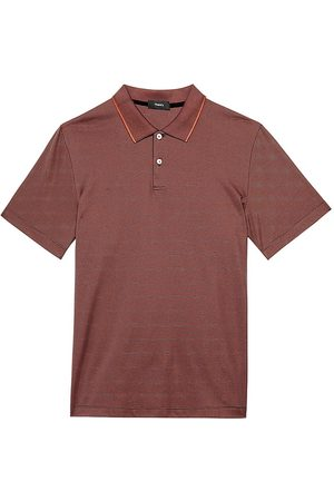 THEORY Men's Standard Current Stripe Polo - Misty - Size Small