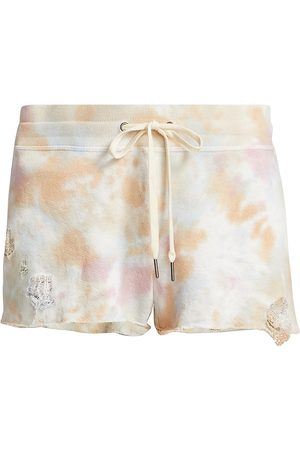 N:philanthropy Women's Rum - Dec. Tie-Dye Shorts - Sun Bloom Tie Dye - Size Small