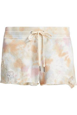 N:philanthropy Women's Rum - Dec. Tie-Dye Shorts - Sun Bloom Tie Dye - Size Small